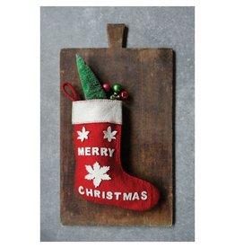 Creative Co-op Merry Christmas Felt Stocking