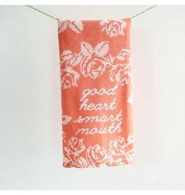 June Clever Good Heart Tea Towel