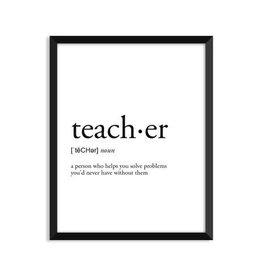 Footnotes Studio Art Print - Teacher