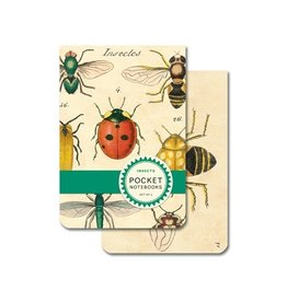 Cavallini Papers Insects Pocket Notebooks, Set/2