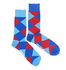 Friday Sock Co. Blue & Red Argyle, Men's