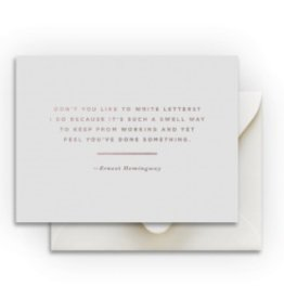 Smitten on Paper Hemingway Card