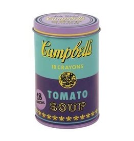 Hachette Book Group Andy Warhol Soup Can Crayons, Purple