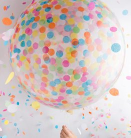 Knot and Bow Jumbo Confetti Balloon:  Multicolor