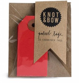Knot and Bow Parcel Tags, Red