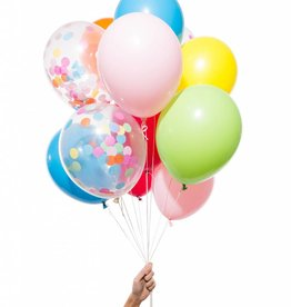 Knot and Bow Party Balloons:  Rainbow Mix