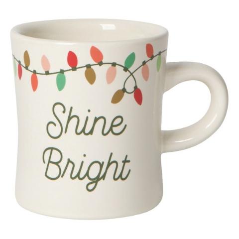 Now Designs Christmas Lights Diner Mug