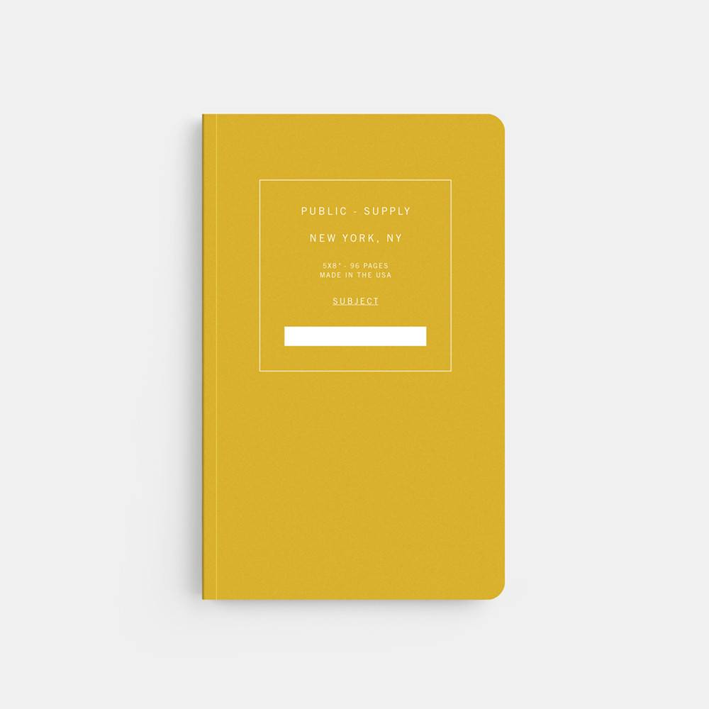 Public Supply Soft Cover Yellow, Ruled