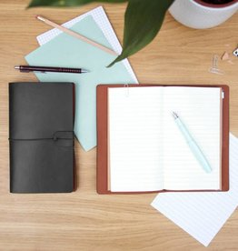 Good Design Works Faux Leather Notebook, Black