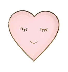 Meri Meri Smiley Heart Plates