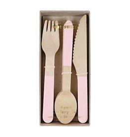 Meri Meri Wooden Cutlery - Pink