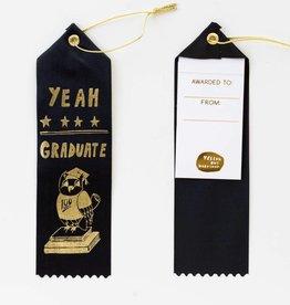 Yellow Owl Ribbon - Yeah Graduate