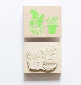 Yellow Owl Stamp - Cacti
