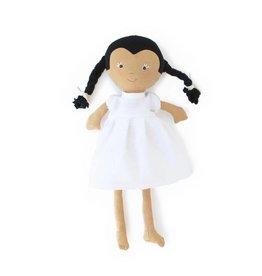 Hazel Village Celia in Snowy White Linen Dress