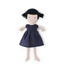 Hazel Village Nell in Navy Linen Dress