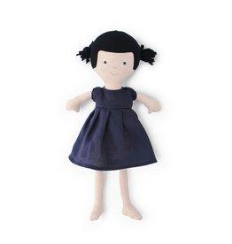Hazel Village Nell in Navy Linen Dress
