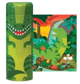 Petit Collage Dinosaur Tin Canister Puzzle