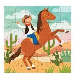 Petit Collage Petit Puzzle - Cowboy