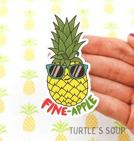 Turtle's soup Fine Apple Sticker