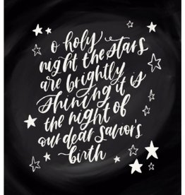 AP Letters O Holy Night Print