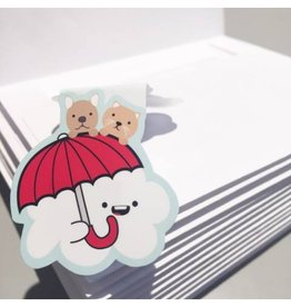 Crafted Van Raining Cats & Dogs Bookmark