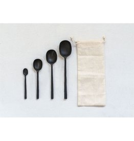Creative Co-op Black Spoon Set, Set/4