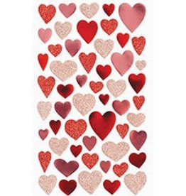 Waste Not Paper Glitter Heart Sticker