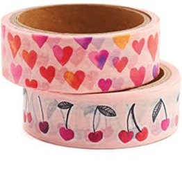 Waste Not Paper Watercolor Hearts Washi Tape