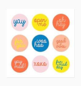 Inclosed Letterpress Fun Mail Stickers