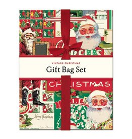 Cavallini Papers Vintage Christmas Gift Bag Set