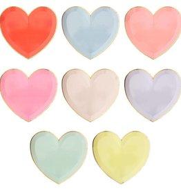 Meri Meri Rainbow Heart Plates, Lg