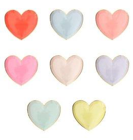 Meri Meri Rainbow Heart Plates, Sm