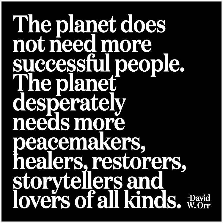 Quotable The Planet Does Not Need