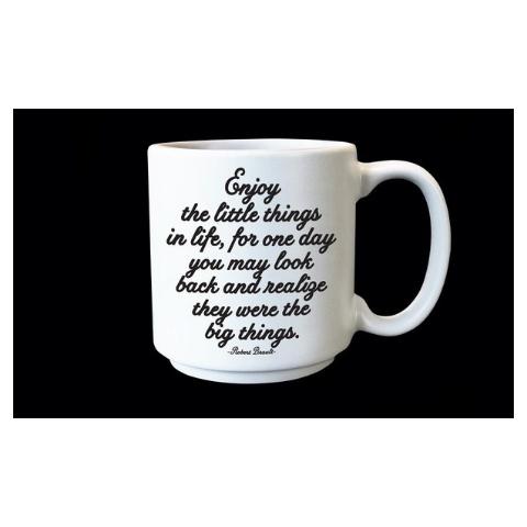 Quotable Enjoy Little Things Espresso Mug