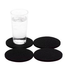 Graf Lantz Felt Coasters, Black
