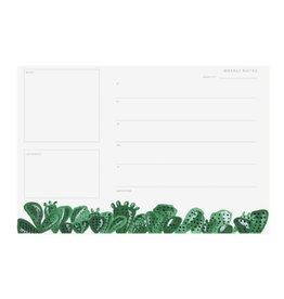 Pen + Pillar Cactus Weekly Notepad