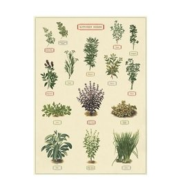Cavallini Papers Kitchen Herbs Wrap Sheet