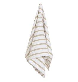 Now Designs Basketweave Sandstone Tea Towel
