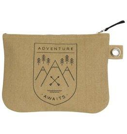 Now Designs Adventure Awaits Zip Pouch/Lg