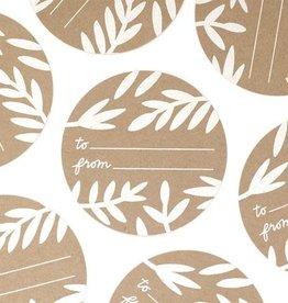 Worthwhile Paper Foliage Gift Sticker