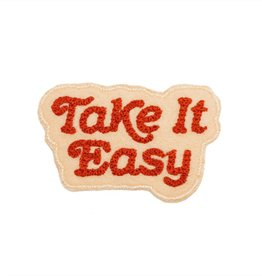 Lucky Horse Press Take it Easy Chain Stitched Patch - Red/Blush