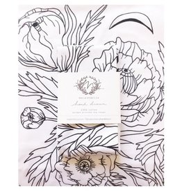 Maija Rebecca Poppy Dreams Tea Towel