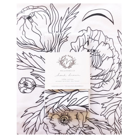 Maija Rebecca Poppy Dreams Tea Towel