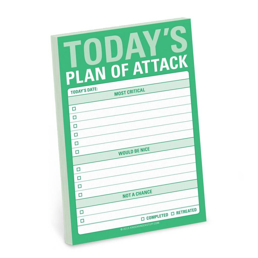 Knock Knock Great Big Sticky: Plan of Attack