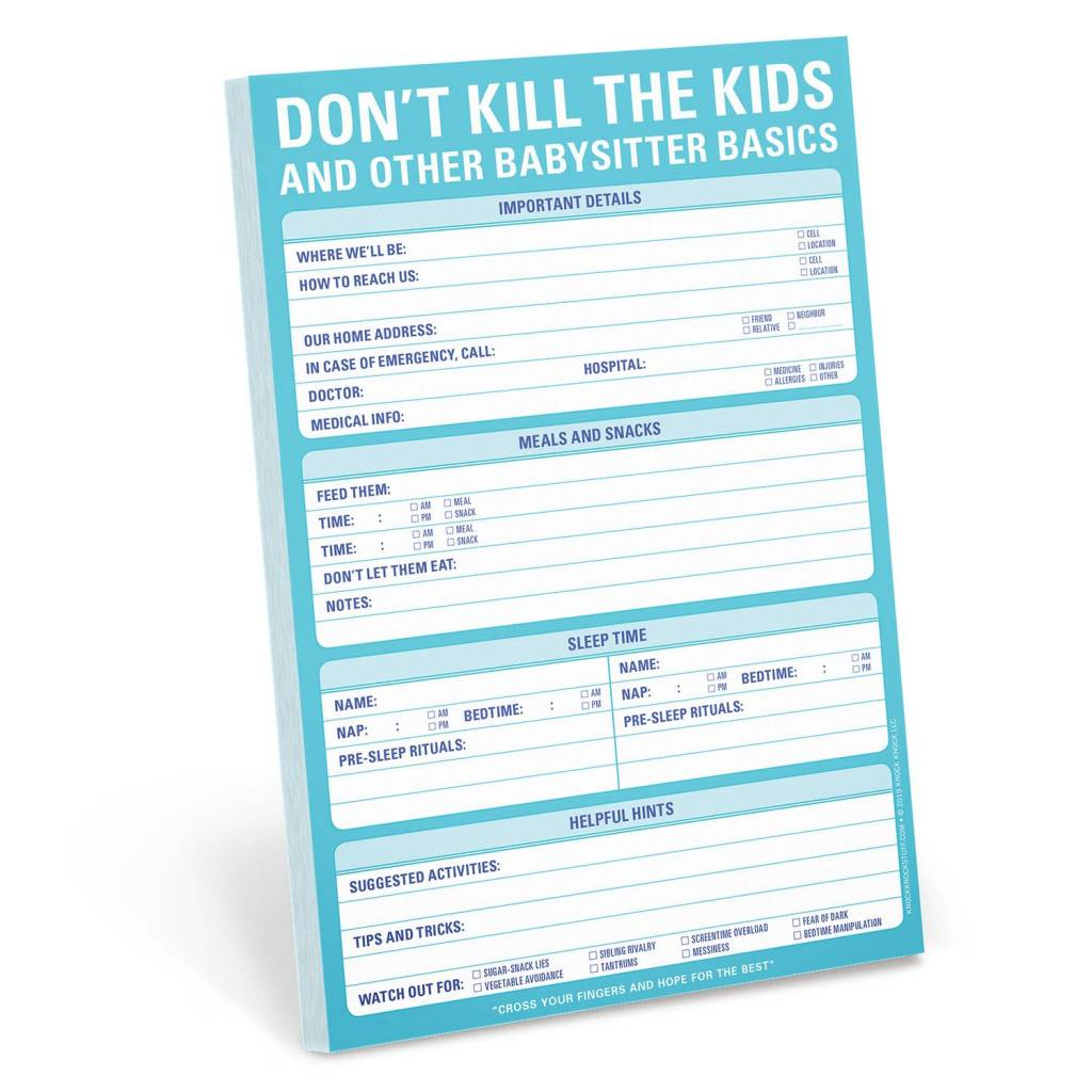 Knock Knock Pad: Don't Kill The Kids