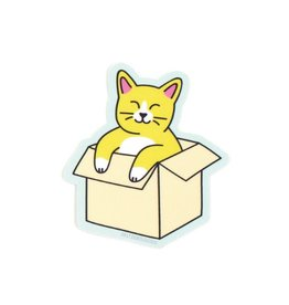 Seltzer Goods Cat in Box Sticker