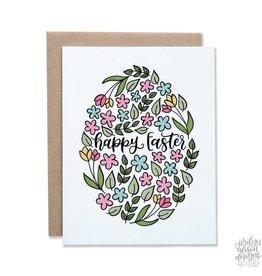 Jordyn Alison Happy Easter Floral Egg