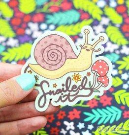 Turtle's soup Snailed It Sticker