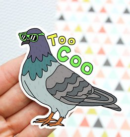 Turtle's soup Too Coo Pigeon Sticker