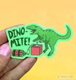 Turtle's soup Dino-Mite Sticker